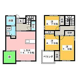 [一戸建] 岡山県岡山市中区中井2丁目 の賃貸【/】の間取り