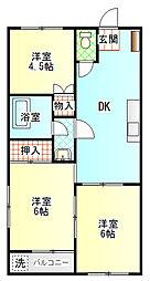 稲葉コーポ[2階]の間取り