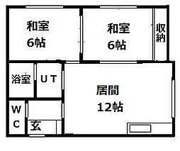 札幌市営南北線 さっぽろ駅 南33西11下車 徒歩5分の賃貸アパート 3階2LDKの間取り