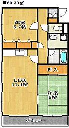 LEO弐拾番館[1階]の間取り