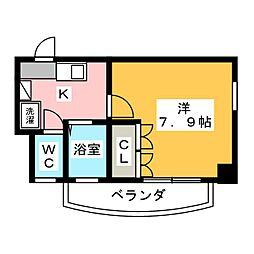 愛知県名古屋市昭和区駒方町2丁目の賃貸マンションの間取り