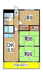 エクセレント富士見台[1階]の間取り