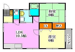 三橋ハウス[2号室]の間取り