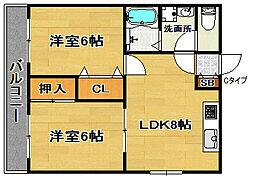マンションマウンテン御崎[3階]の間取り