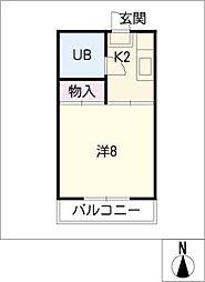 ムーニー山田[1階]の間取り