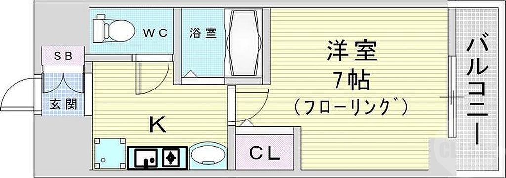間取り(大阪市北区同心。ラナップスクエア同心2。)