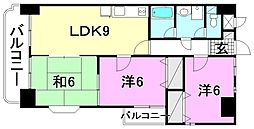 ジュネスKUBOTA[306 号室号室]の間取り