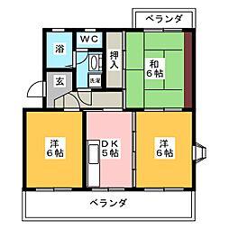 プラサ江尻東[4階]の間取り