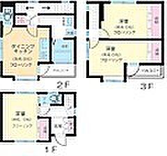 [一戸建] 東京都大田区中央8丁目 の賃貸【/】の間取り