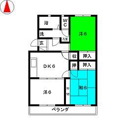 マンションK上島[1階]の間取り