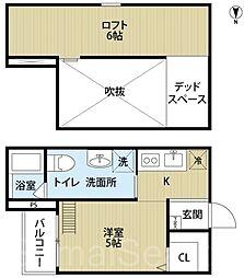 アスクステーション2[1階]の間取り