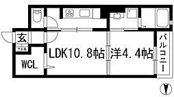 パル池田2[1階]の間取り