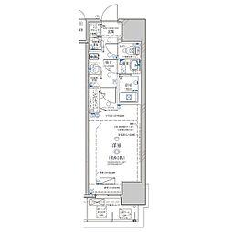 名古屋市営鶴舞線 浅間町駅 徒歩6分の賃貸マンション 4階1Kの間取り