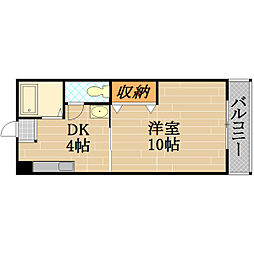 AZU PATIO[3階]の間取り
