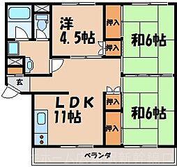 広島県広島市東区温品7丁目の賃貸マンションの間取り