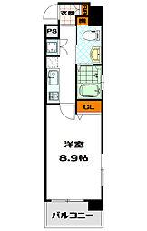 ディナスティ松屋町II[4階]の間取り