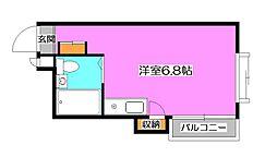 東京都清瀬市元町1丁目の賃貸マンションの間取り