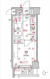 JR京浜東北・根岸線 王子駅 徒歩4分の賃貸マンション 2階1Kの間取り
