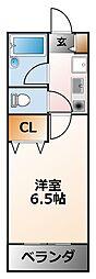 コンフォート甲子園[3階]の間取り