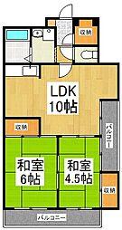 山加マンション[5階]の間取り