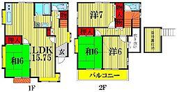 [一戸建] 埼玉県春日部市大場 の賃貸【/】の間取り