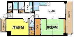 大阪府大阪市平野区喜連西5丁目の賃貸マンションの間取り