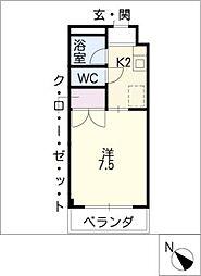 PIA WEST[3階]の間取り