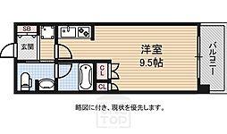 アスリート難波WEST[9階]の間取り