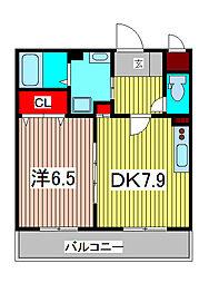埼玉県川口市戸塚6丁目の賃貸マンションの間取り