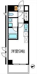 東京都八王子市西片倉2丁目の賃貸マンションの間取り
