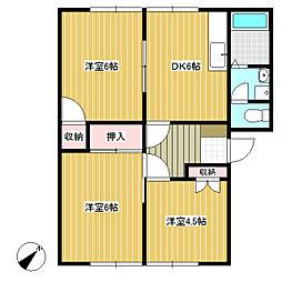 長野県佐久市跡部の賃貸アパートの間取り