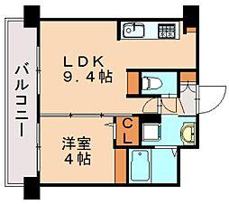 三島マンション博多駅東[6階]の間取り