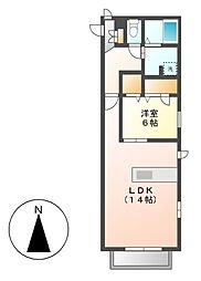 Promenade唐山(プロムナード)[2階]の間取り