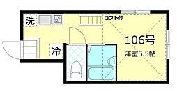 東京都大田区南久が原1丁目の賃貸アパートの間取り