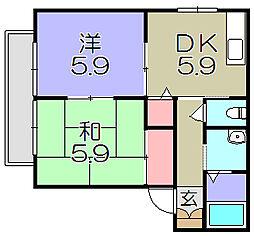 ウィングス21[2階]の間取り