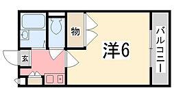 レオパレスOZAKI[101号室]の間取り
