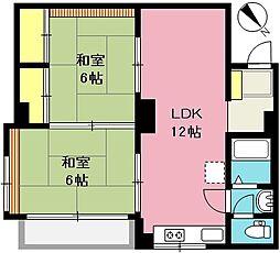 埼玉県上尾市柏座1丁目の賃貸アパートの間取り