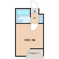 ベルシティ高松[4階]の間取り