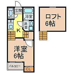 Creo中村公園弐番館 (クレオナカムラコウエニバンカン)[2階]の間取り