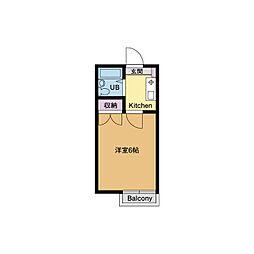 ベルメゾン桜坂[2階]の間取り