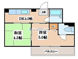 小阪マンション[4階]の間取り