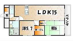 デザイナープリンセス77[13階]の間取り