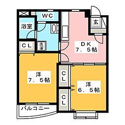 時空庵II[3階]の間取り