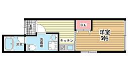 兵庫県神戸市中央区栄町通1丁目の賃貸マンションの間取り