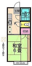 田中ハイツ[201号室]の間取り