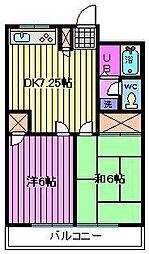 サンテラス篠田[2階]の間取り