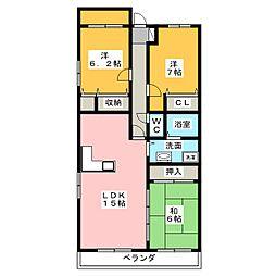 サーラシティ本郷弐番館[4階]の間取り