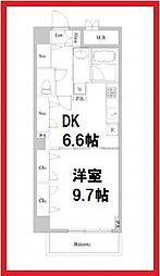 東京都台東区西浅草3丁目の賃貸マンションの間取り
