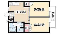 愛知県名古屋市緑区鳴海町字大清水の賃貸マンションの間取り