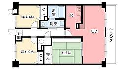 レフィナード[407号室]の間取り
